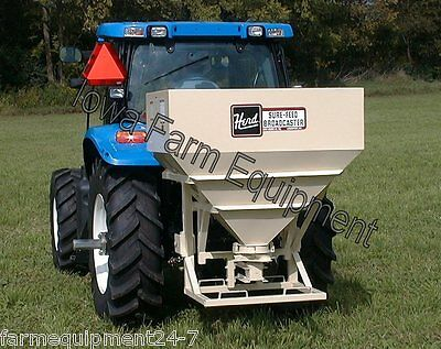 Herd 2440 32Bu Tractor 3-Point PTO Broadcast Grass Seeder & Fertilizer Spreader