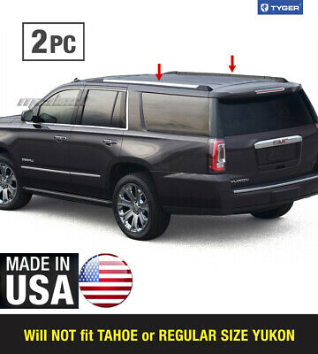 TYGER Fits 2015-2020 Chevy Suburban GMC Yukon XL Roof Rack Body Molding Trim 2PC