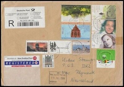 Germany Registered Cover To New Zealand 2004 (Id:455/r32817)
