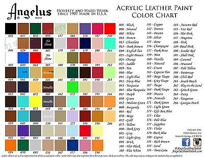 2 Bottles Angelus Acrylic Leather Paint /Dye - Leather & Vinyl - 4 oz- Original