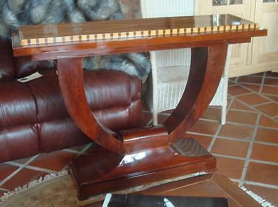 Art Deco 1920s / 1930s Style Wooden Inlaid Console Table - Stunning Quality