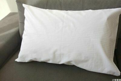 2 x PILLOWCASES / PILLOW COVER WHITE STRIPED KING EXTRA LARGE 55x112cm RARE SIZE