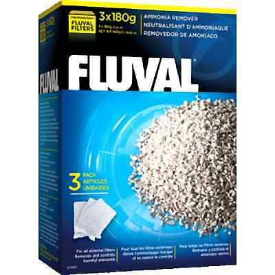 Fluval Ammonia Remover 540G 3 X 180G Net Bags Geuine Hagen Product
