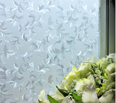 3D Static Embossed Decorative Etched Glass Frosted Vinyl Privacy Window Film