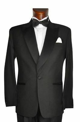 Mens Dinner Smart Suit Jacket Formal Black Tie Prom Wedding Tuxedo Coat Boys