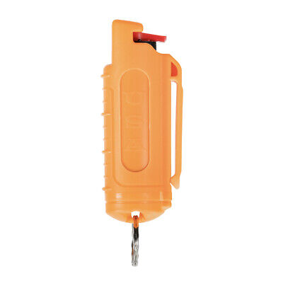 Police Magnum mace pepper spray .50oz orange molded keychain defense protection