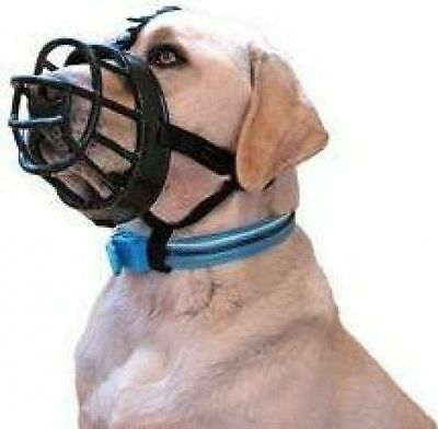Baskerville Ultra Dog Muzzle Adjustable Deluxe Dog Muzzle Black Size 3