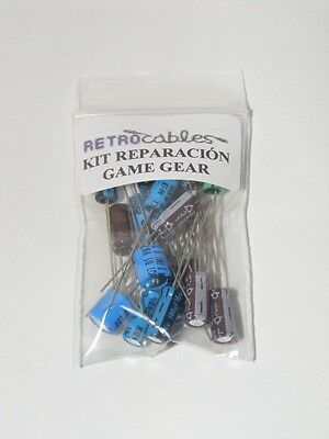 Kit reparación Sega Game Gear repair kit condensadores capacitors