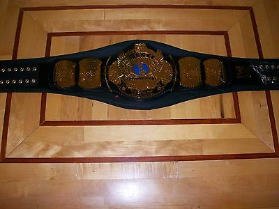 *wwf/wwe Winged Eagle Championship Title Belt 4Mm Adult Casted Plates Mint*