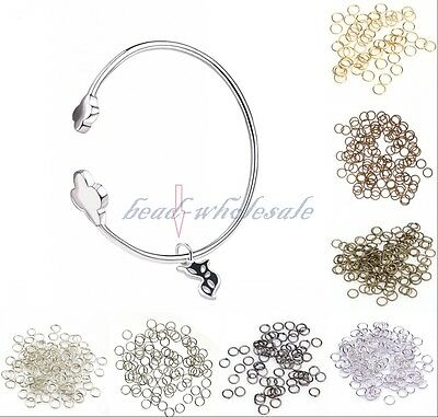 Wholesale 300 x  4/6/8mm Silver Gold Jump Rings Open Connectors Jewelry Finding