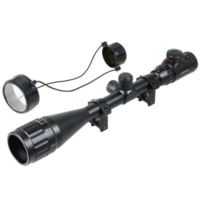 Tactical 6-24x50 Red Green Mil-dot Illuminated Sight Scope For Air Rifle Hunting