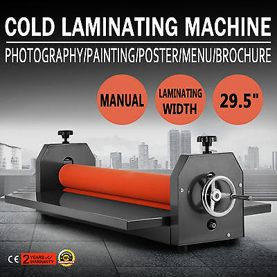 "29.5"" 750Mm Cold Laminator Laminating Machine Wide Format Photo 4 Roller"