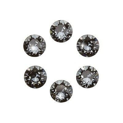 Swarovski 1088 Chatons Crystals XIRIUS Silver Night Foil Back 6mm PK6 (F103/7)