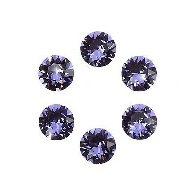 Swarovski 1088 Crystals XIRIUS Chatons Tanzanite Foil Back SS29 6mm (D102/6)