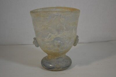 Ancient Roman Iridescent Desert Glass Vase