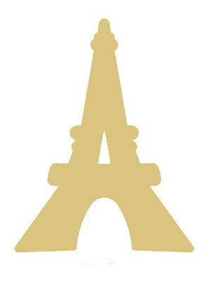 Tower Style 1 Unfinished MDF Wood Cutout Variety Sizes USA Made Paris Decor