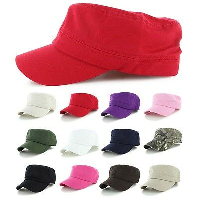 Men Plain Army Military Patrol Cadet BaseBall Cap Summer Women Cotton Hat New