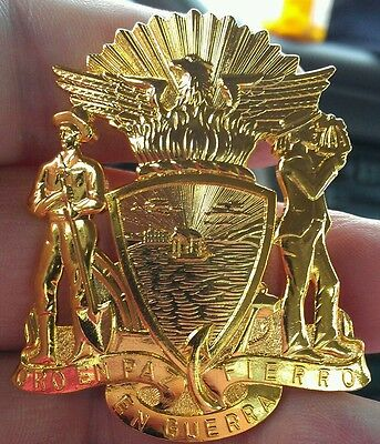 San Francisco Police hat badge. The Real Thing..Hallmarked & Gold Filled.