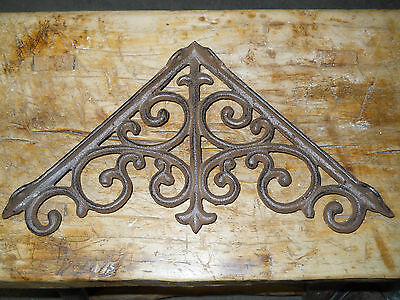 4 Cast Iron Antique Style Large HD Brackets Garden Braces RUSTIC Shelf Bracket