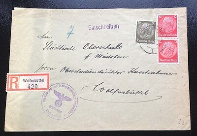 #835 * Germany * 194? * Cover with 3 Hindenburg stamps * We combine shipping