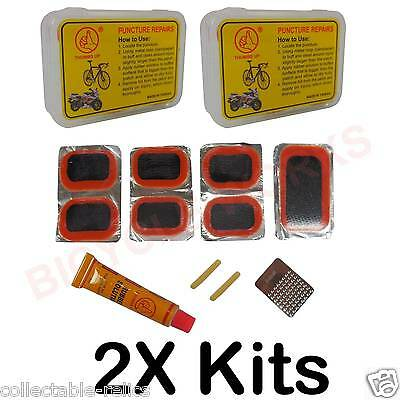 2X Puncture Repair Kits Glue Solution Adhesive Patch Tyre Bike Bicycle Tube 759