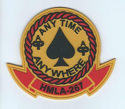 "HMLA-267 ""ANYTIME ANY WHERE "" (PVC MADE) patch"