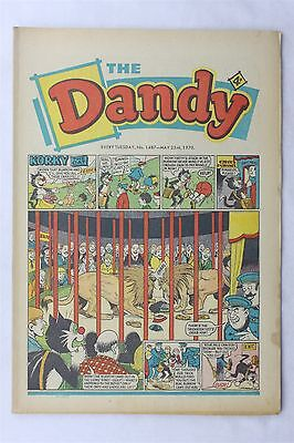 The Dandy 1487 May 23th 1970 Vintage UK Comic Korky The Cat Desperate Dan