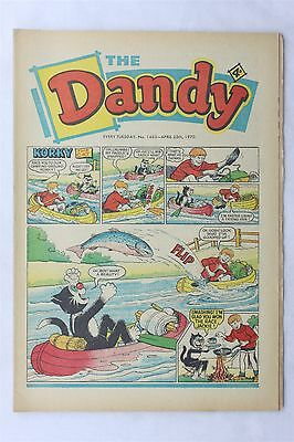 The Dandy 1483 April 25th 1970 Vintage UK Comic Korky The Cat Desperate Dan
