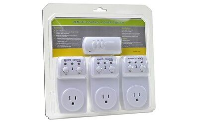 Brand New - Remote Controlled Switch Socket - 3-Pack (3 Sockets,1 Remote) Canada
