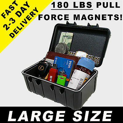 Magnetic Stash Box Hidden Safe Home Secret Case Diversion Car Security Hide 1602