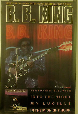 B.B. King - INTO THE NIGHT - Soundtrack - Vintage Promo  Poster [1985]  - VG++