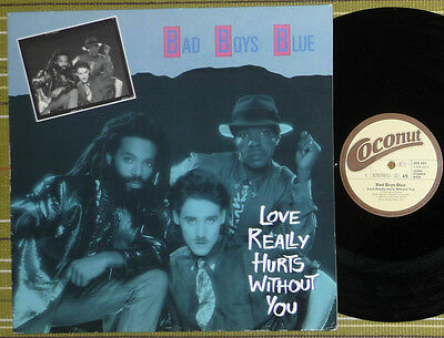 """Bad Boys Blue, Love Really Hurts Without You, 12"""" Maxi 1986 Germany Ex-/vg"""