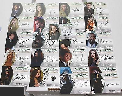 2015 Cryptozoic ARROW Season 1 Autograph & Wardrobe SINGLES - You Choose