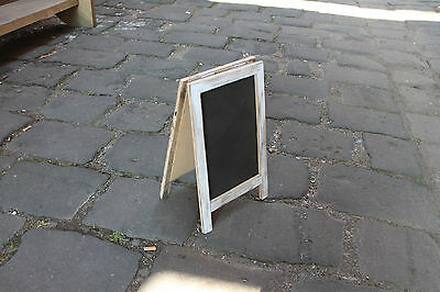 Small White Washed A-Frame Chalkboard, Recycled Timber, Rustic Blackboard,
