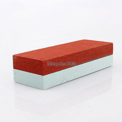 Two Sides Knife Razor Sharpening Stone 400# 1500# Whetstone Sharpener Polishing