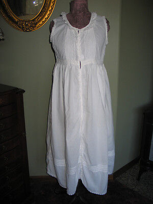 "Antique Victorian  Chemise~Petticoat~Night Gown Bobbin Lace Inserts~Monogram ""L"""