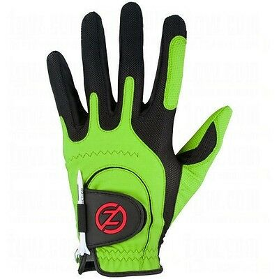 NEW Zero Friction Mens Universal One Size Fits All Golf Glove - LH - Lime Green