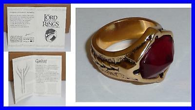 LOTR Lord Rings GANDALF RING Of NARYA Original OFFICIAL With CERTIFICATE and BAG