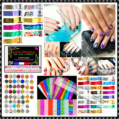 Foil Nail Art Manicure Décoration French Gel Uv Vernis Ongles Bijou Stickers