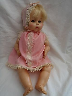 "Vintage ""HORSMAN"" 14"" BABY DOLL 1961 HEAVY Vinyl NURSER Mouth DRINK & WET! NR"