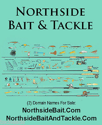 NORTHSIDE BAIT & TACKLE - (2) Fishing & Sports Niche Brand Domain Names for sale