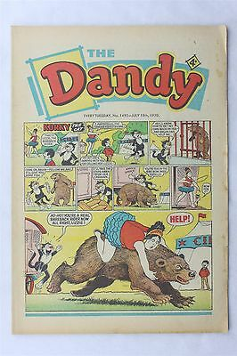 The Dandy 1495 July 18th 1970 Vintage UK Comic Korky The Cat Desperate Dan