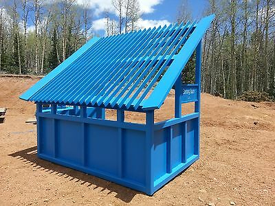 10' grizzly rock screen, topsoil aggregate mining static firewood grading custom