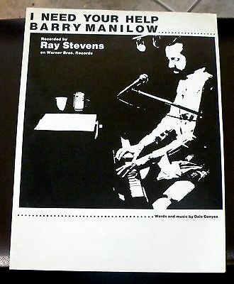 Ray Stevens Vintage Sheet Music I Need Your Help Barry Manilow 1979