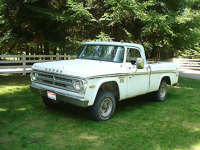 Dodge : Power Wagon deluxe 1970 dodge power wagon short wide bed 1 2 ton 4 x 4