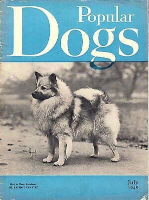 Vintage Popular Dogs Magazine April July 1949 Keeshond Cover