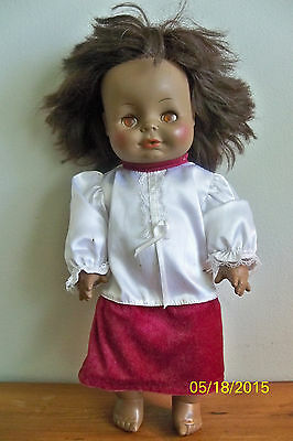 VINTAGE BLACK BABY DOLL HORSMAN 1971 DRINK WET SLEEP AFRICAN AMERICAN 10-81