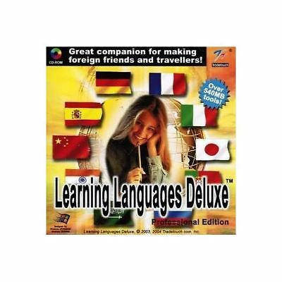 Learning Languages Deluxe: Professional Edition - French German Russian PC NEW