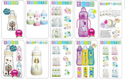 Mam All Size Bottle, Starter Set Available 11/17pcs (Glass/Plastic Bottle)
