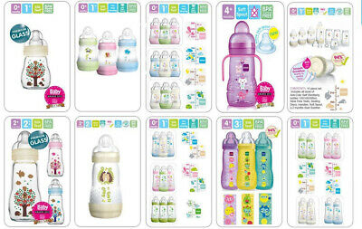 Mam All Size Bottle, Starter Set Available 15/23pcs (Glass/Plastic Bottle)